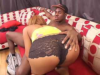 Krystal Wett Ghetto Girl Gets Pimped and Fucked with a Big Black Cock